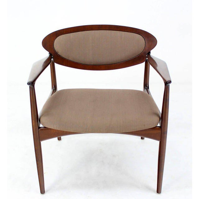 Very nice Mid-Century Modern extra wide chair by Selig. The frame is in mint condition, needs new upholstery.