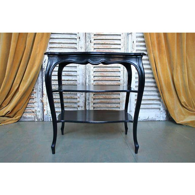French Napoleon III End Table with Black Glass - Image 4 of 9