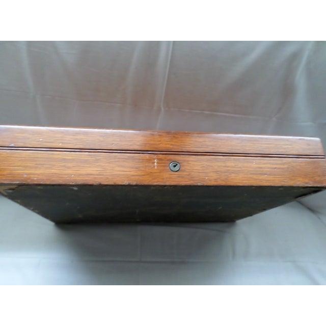 Wood Antique Golden Oak Silver Chest /Service Box for Flatware For Sale - Image 7 of 11