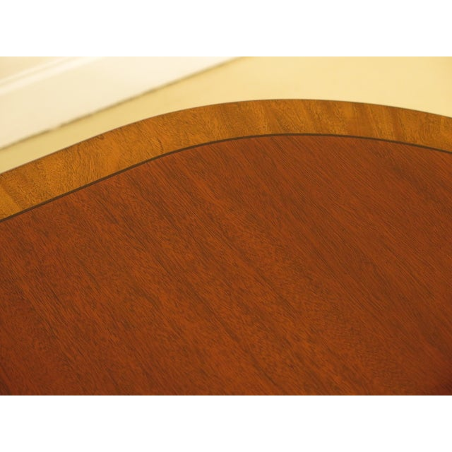 Mahogany Kindel Banded Border Duncan Phyfe Mahogany Dining Table For Sale - Image 7 of 13