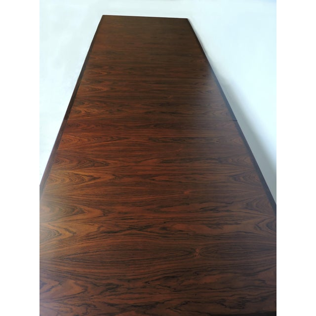 Arne Vodder Expandable Danish Modern Rosewood Dining Conference Table Model 201 For Sale In Philadelphia - Image 6 of 13