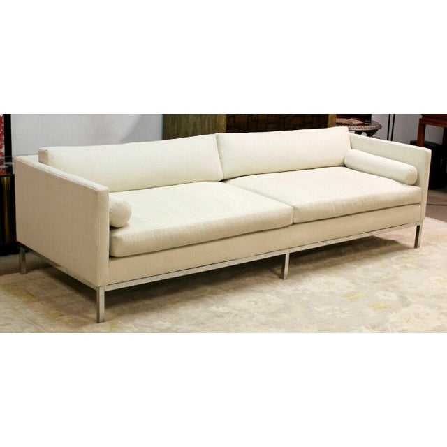 1970s Mid Century Modern B&b Italia Chrome Base Sofa Italy 1970s Baughman Era For Sale - Image 5 of 10