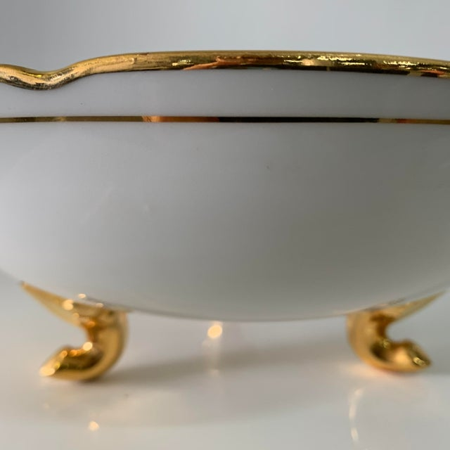 Limoges, France Vintage Limoges France Footed Bowl and Ladle For Sale - Image 4 of 13