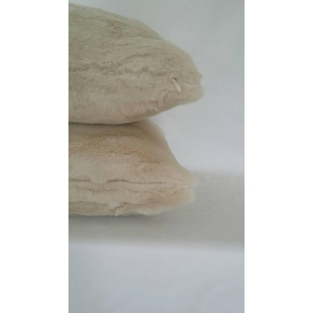 Contemporary Kravet Bewitching Cream Faux Fur Pillow Cover For Sale - Image 3 of 5