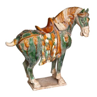 1960s Chinese Ceramic Horse For Sale