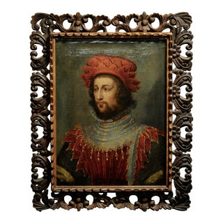 17th Century Italian Portrait of a Gentleman in Medieval Costume-Oil Painting For Sale