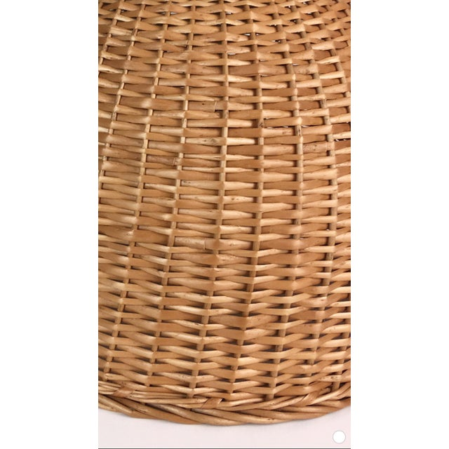 Gorgeous hand woven chunky basket table lamp. Lamp includes large ceramic ball finial. Lamp is weighted for stability....