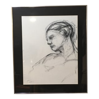 Original Charcoal Abstract Portrait Drawing For Sale
