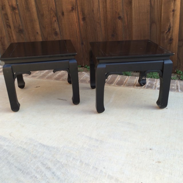 Black Chinoiserie Side Tables - A Pair - Image 3 of 7