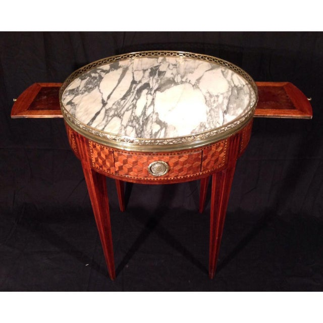 Empire 19th Century French Inlaid Bouillotte Table For Sale - Image 3 of 9