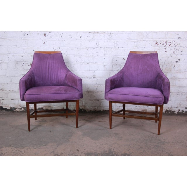 Kipp Stewart for Directional Mid-Century Modern Lounge Chairs - a Pair For Sale - Image 13 of 13