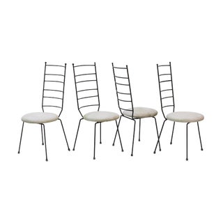 Iron Ladder Back Patio Dining Chairs, S/4 For Sale