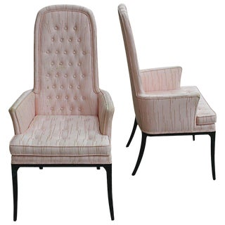 1950s Mid-Century Modern Erwin-Lambeth High Back Armchairs - a Pair For Sale