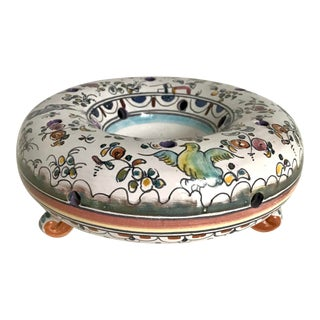 Vintage Portugese Tulipiere Hand-Painted by Nan Freitas For Sale