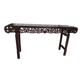 Ming Style Hand Carved Wall Table