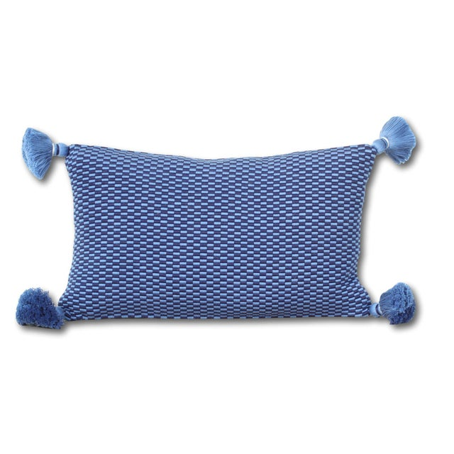 Ella Handwoven Rectangle Tassel Pillow - Image 2 of 3