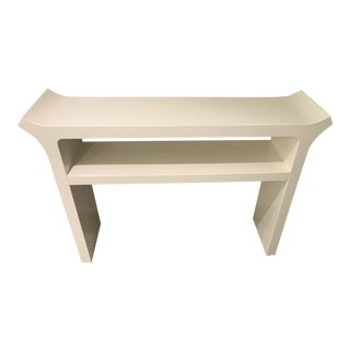 Pagoda Modern Asian Chinoiserie Chinese Console Table For Sale