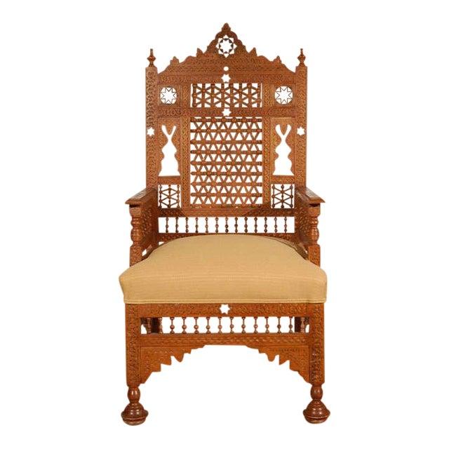 Syrian Moorish Royal Throne Armchairs For Sale