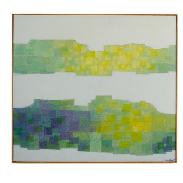 """1970s """"Double Landscape"""" Abstract Oil Painting by Hans Kline, Framed For Sale - Image 13 of 13"""