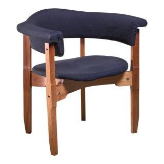 Fulvio Raboni Armchair With Purple Upholstery, Italy, 1960s
