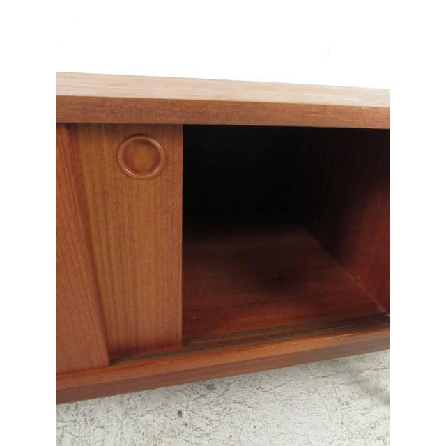 Scandinavian Modern Teak Sideboard or Television Console For Sale - Image 5 of 9