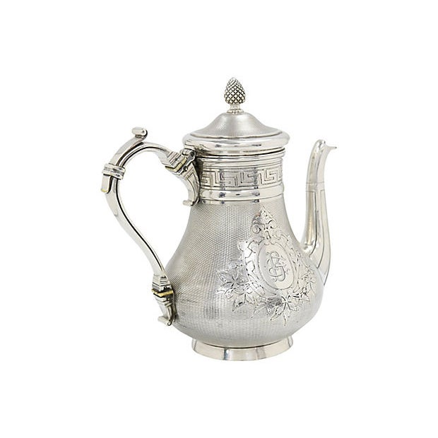Antique French Christofle Silver-Plate Coffee Pot For Sale In Los Angeles - Image 6 of 7