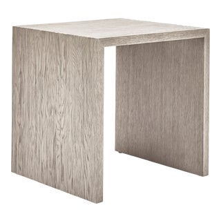 Justine End Table, Putty Grey For Sale