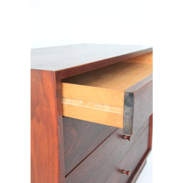 Vintage Mid-Century Modern Walnut 4-Drawer Dresser - Image 6 of 7