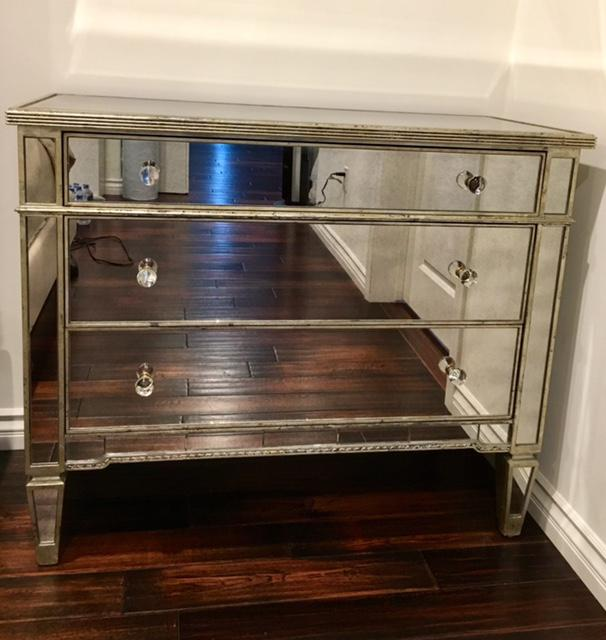 There are two available if purchased together they are $895. Separately $495 each. Contact. Contemporary Neiman Marcus Amelie Mirrored ... & Neiman Marcus Amelie Mirrored Hall Chest | Chairish