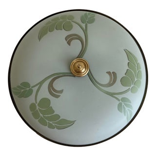 1950s Art Nouveau Ceiling Light For Sale