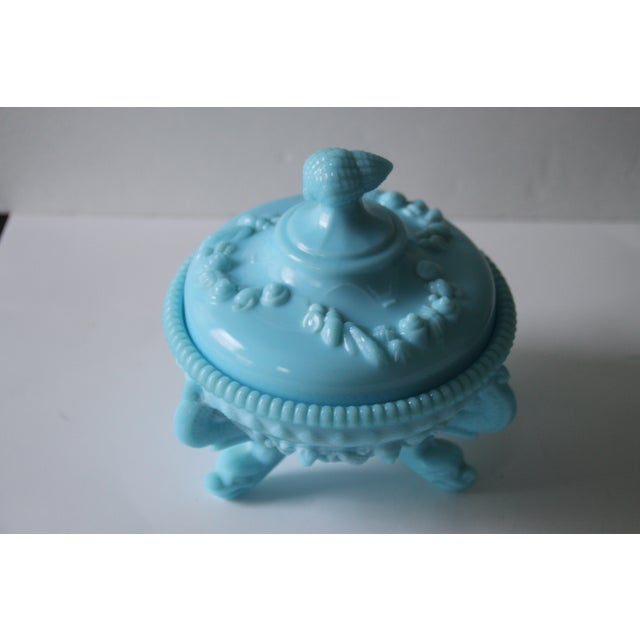 Westmoreland Footed Blue Seashell Candy Dish - Image 3 of 5