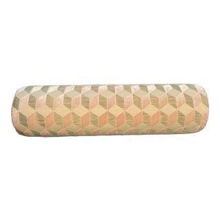 Manuel Canovas Vallauris Rose Velvet Bolster Pillow For Sale