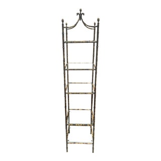 Faux Bamboo Etagere Hollywood Regency For Sale