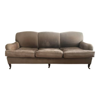 George Smith Traditional Tight Back and Rolled Arm Sofa For Sale
