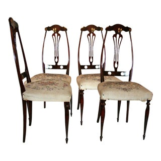 Italian Game Table Chairs For Sale