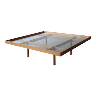 Mid Century Square Italian Architectural Coffee Table For Sale