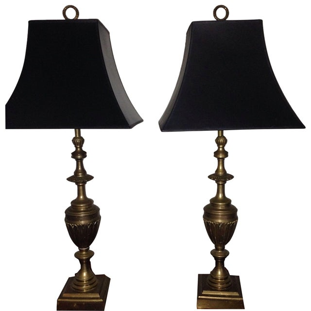 Brass Trophy Lamps - A Pair - Image 1 of 9