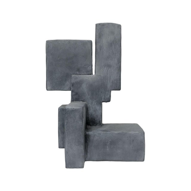 "2010s ""Luuk"" Mixed-Media Table Top Sculpture in Grey Finish by Dan Schneiger For Sale - Image 5 of 5"