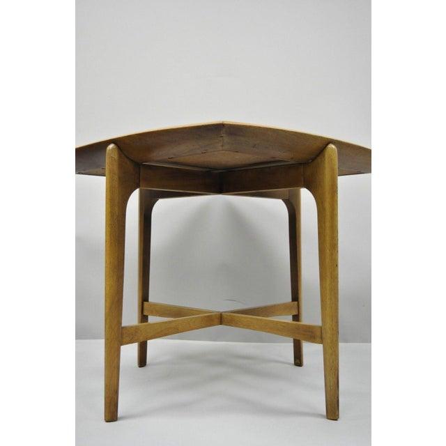 John Keal Brown Saltman Mid-Century Danish Modern Sculptural Walnut Side Table For Sale In Philadelphia - Image 6 of 12