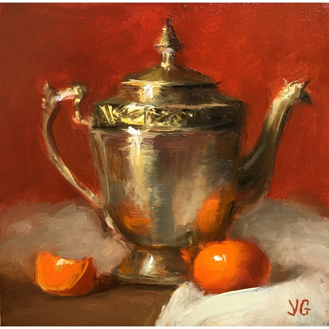 Still Life with Metal Pitcher and Tangerine - Image 1 of 3
