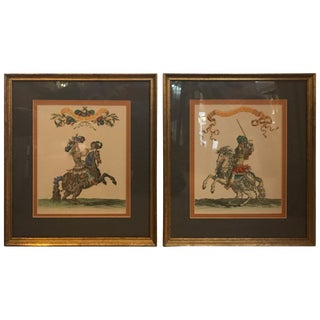 19th Century Hand Colored Engravings - a Pair For Sale