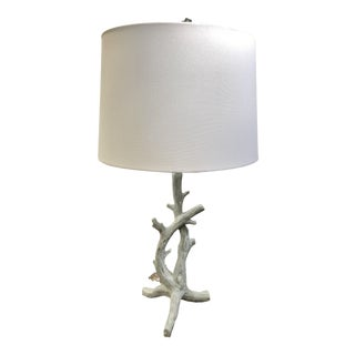 Faux Bois Table Lamp For Sale