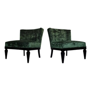 Hollywood Regency Lounge Chairs - a Pair For Sale