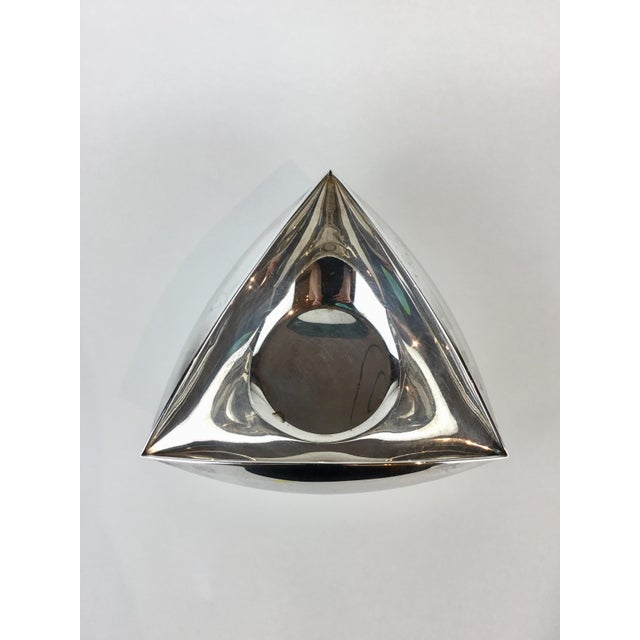 Silver Italian Triangular Pampaloni Silver Plate Bowl For Sale - Image 8 of 11