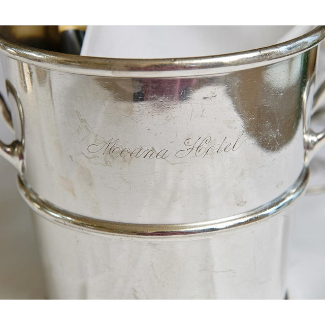 Reed & Barton Reed & Barton Silverplate Moana Hotel, Hawaii Champagne Bucket For Sale - Image 4 of 9