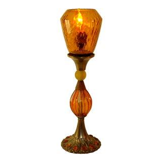 Reclaimed Orange Amber Glass Lamp