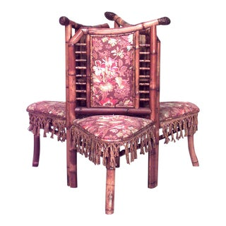 French Victorian Bamboo Tete-A-Tete For Sale