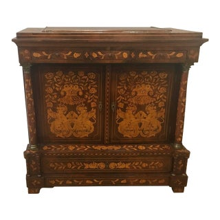 Early 19th Century Dutch Marquetry Server Side Cabinet For Sale