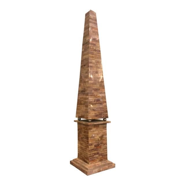 Huge Vintage Designer Trompe l'Oeil Obelisk For Sale