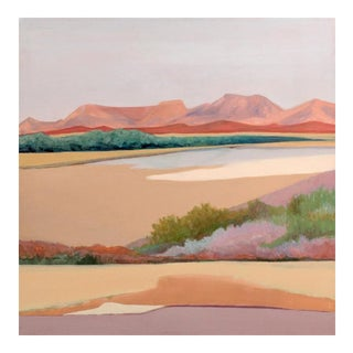 """Desert Edge"" Marilyn Spencer (New Orleans, 1939-2017) Acrylic on Canvas For Sale"